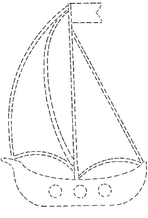 Раскраска Кораблик по точкам обведи и раскрась.. Скачать по точкам.  Распечатать по точкам