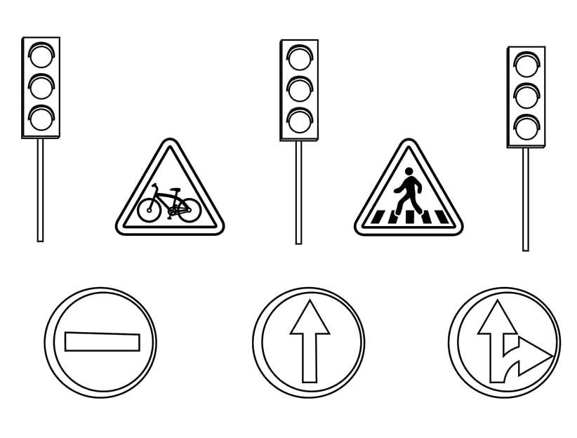 Раскраска Правила Дорожного Движения. Скачать Правила дорожного движения.  Распечатать Правила дорожного движения