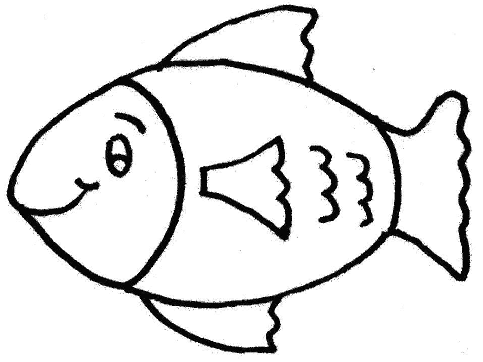 Раскраска  Круглая рыба. Скачать .  Распечатать