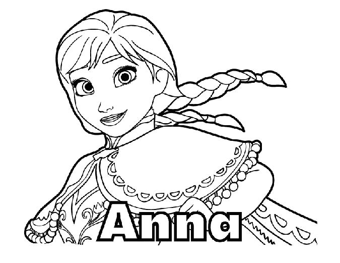 Раскраска Анна . Скачать Анна.  Распечатать Анна