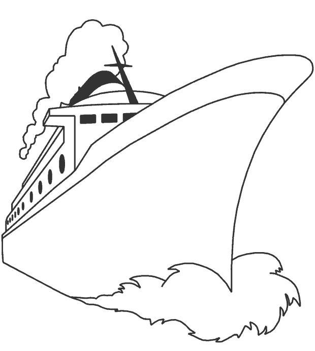 Раскраска  лайнер. Скачать корабль.  Распечатать корабль