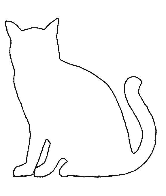 Раскраска Кошка. Скачать Контур.  Распечатать Контур