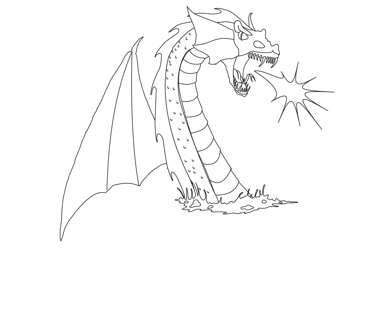 Раскраска Драконы. Скачать дракон.  Распечатать мифические существа