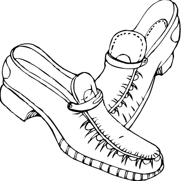 Раскраска Мужские ботинки. Скачать .  Распечатать