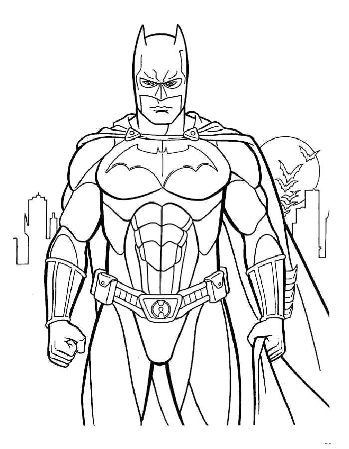 Раскраска - Бэтмен. Скачать .  Распечатать