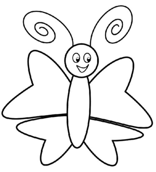 Раскраска бабочка для малышей. Скачать Бабочки.  Распечатать Бабочки