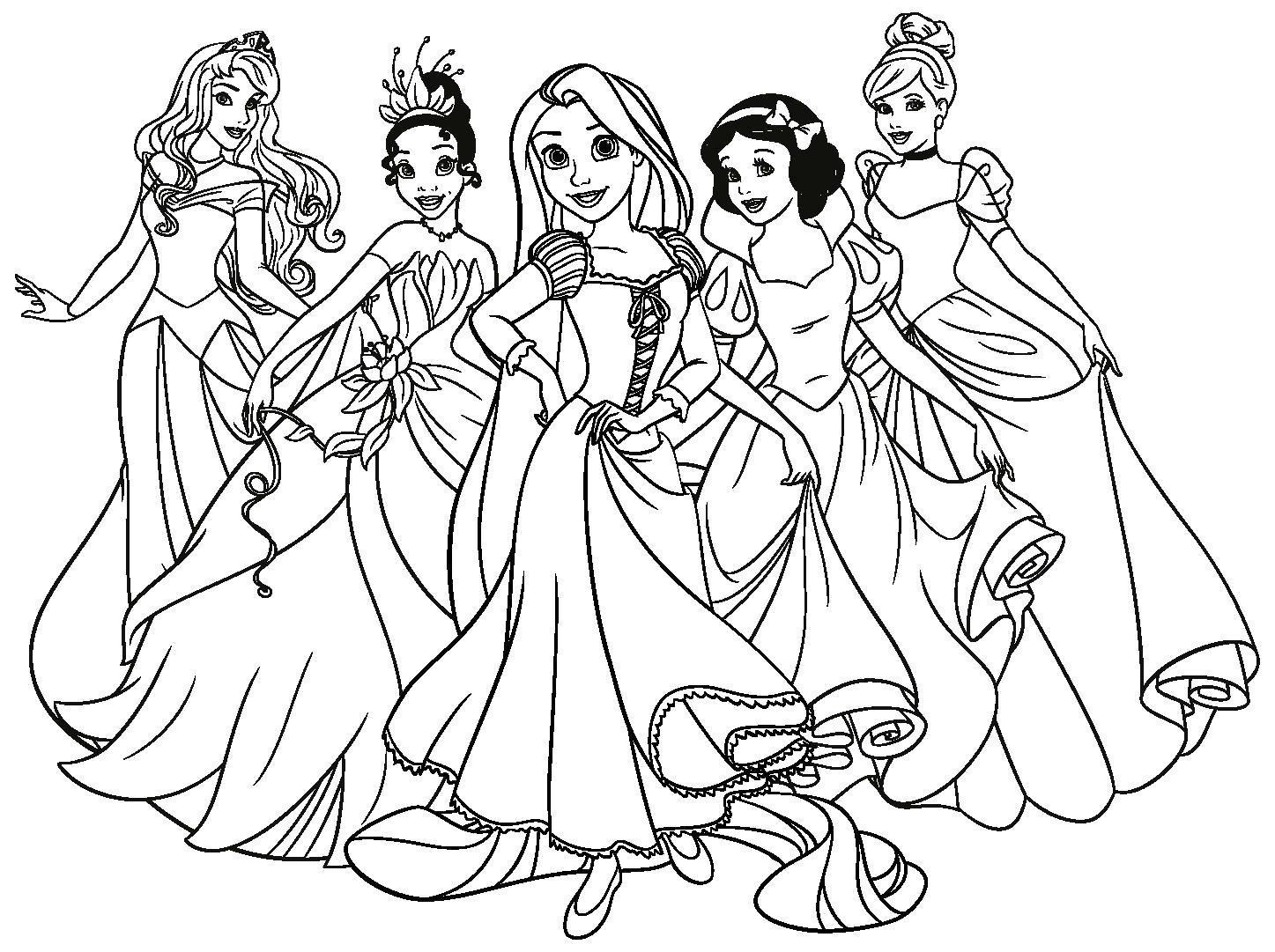 Раскраска Рапунцель и принцессы Дисней, . Скачать Анна.  Распечатать Анна