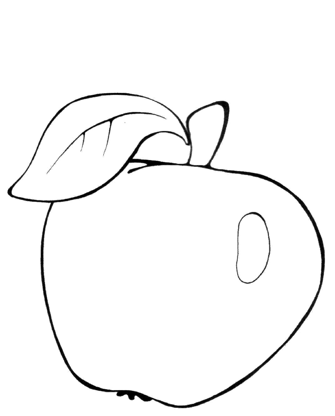 Раскраска  яблоко для детей, яблоко, овощи яблоко. Скачать яблоко.  Распечатать яблоко