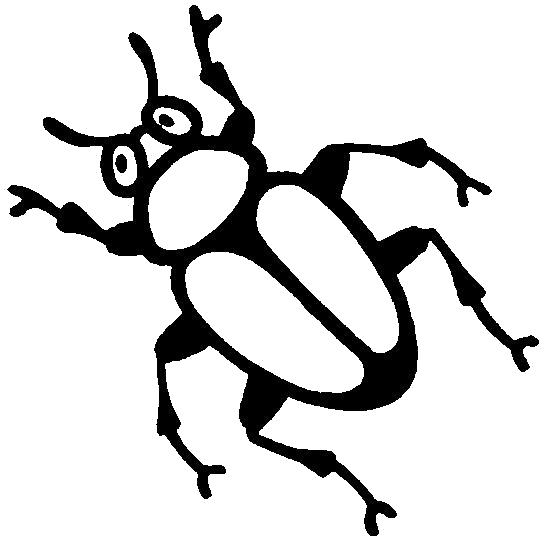 Раскраска  жук с лапками. Скачать Жук.  Распечатать Насекомые