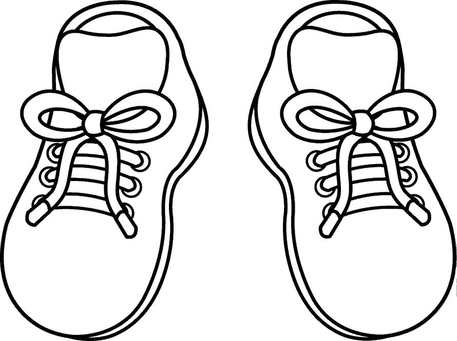 Раскраска ботинки, обувь. Скачать .  Распечатать