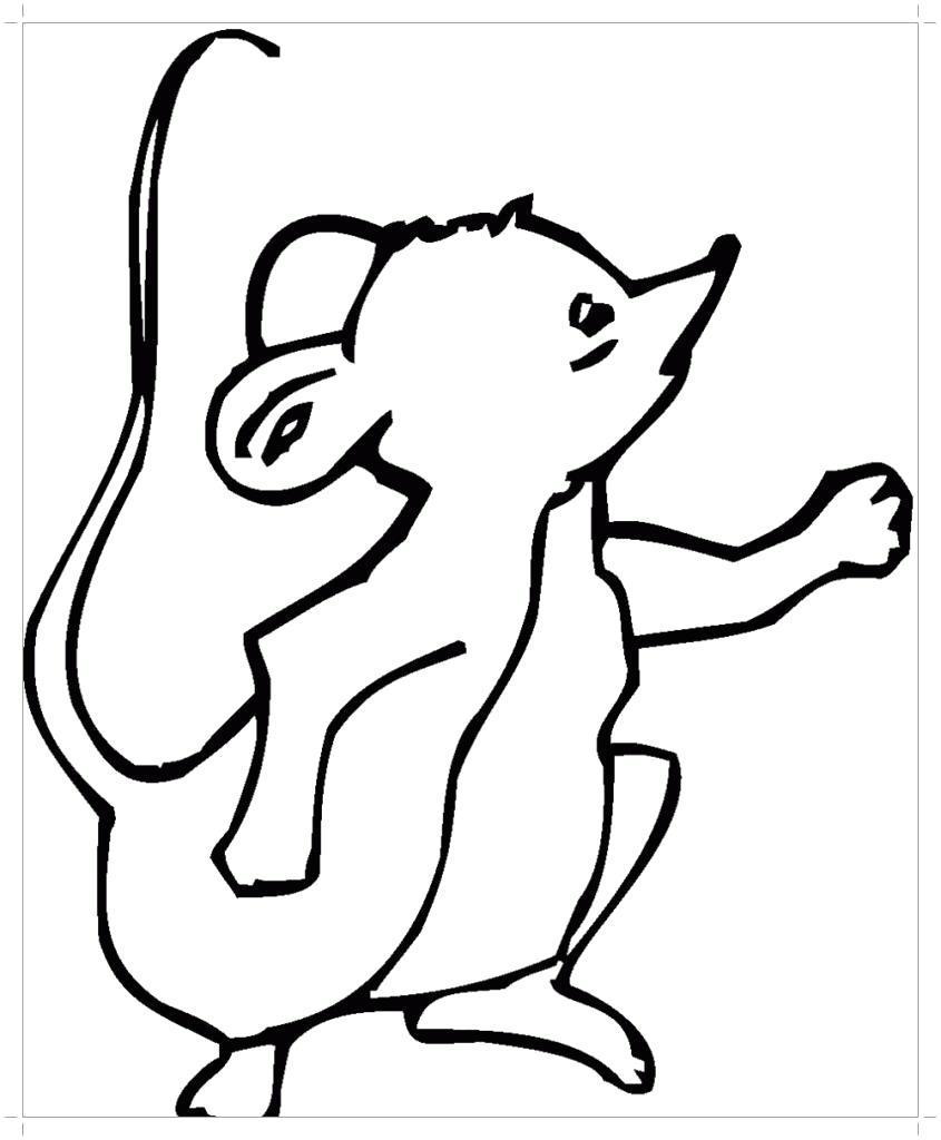 Раскраска Мышка  для детей. Скачать .  Распечатать