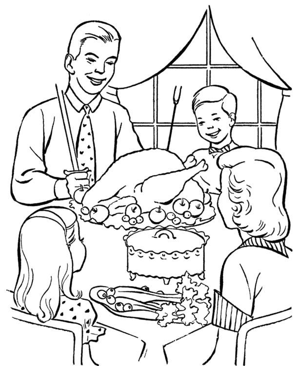 Раскраска День Благодарения. Скачать .  Распечатать