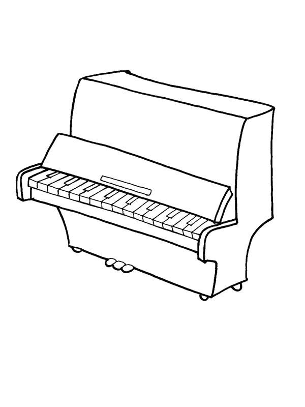 Раскраска Фортепиано. Скачать Пианино.  Распечатать Пианино