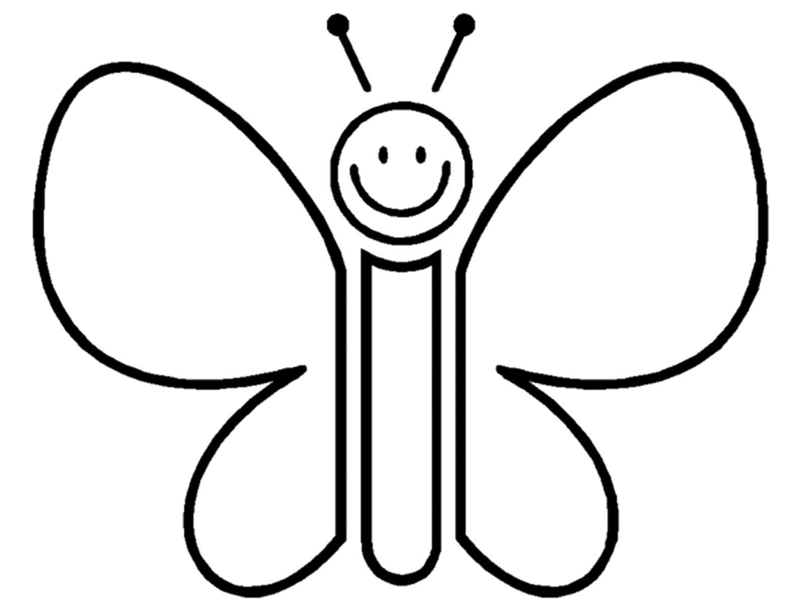 Раскраска Смешная бабочка. Скачать .  Распечатать