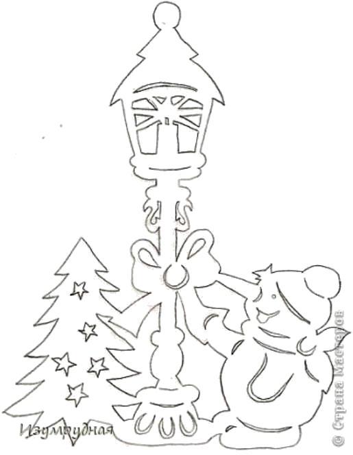 Раскраска   НОВОГОДНЯЯ  СКАЗКА  НА  ОКНЕ. Скачать новогодние.  Распечатать новогодние