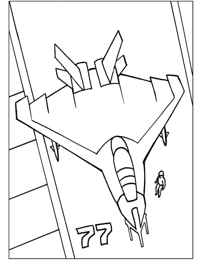 Раскраска Самолёт, самолет стоит на страже, самолет на лодке. Скачать самолет.  Распечатать самолет