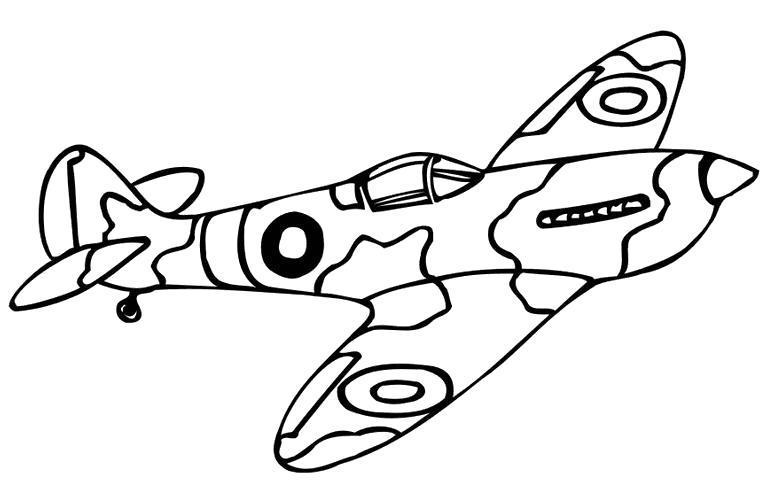 Раскраска раскрас самолета, боевой самолет, узоры на самолете. Скачать .  Распечатать