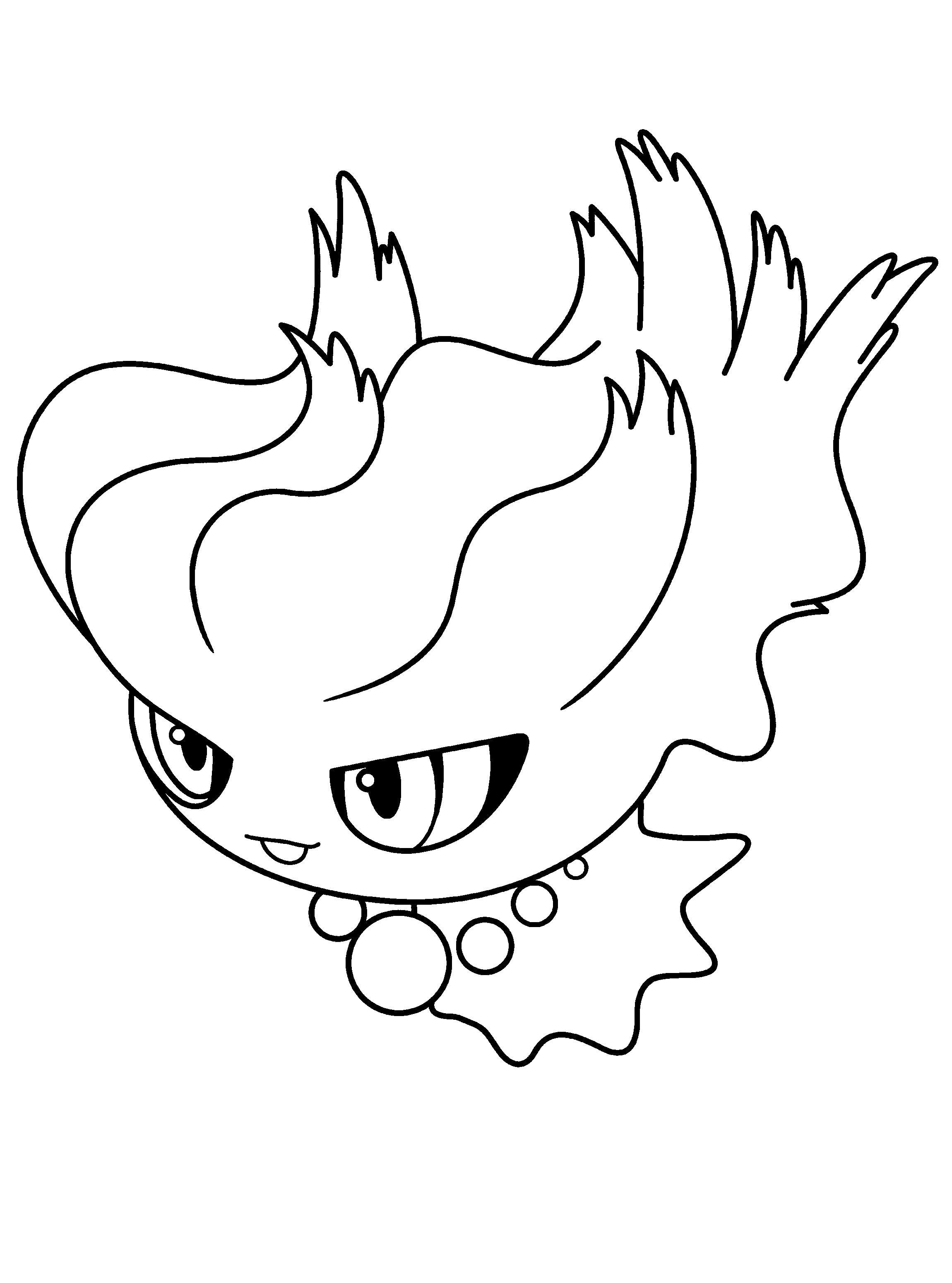 Раскраска Милый покемон. Скачать покемон.  Распечатать покемон