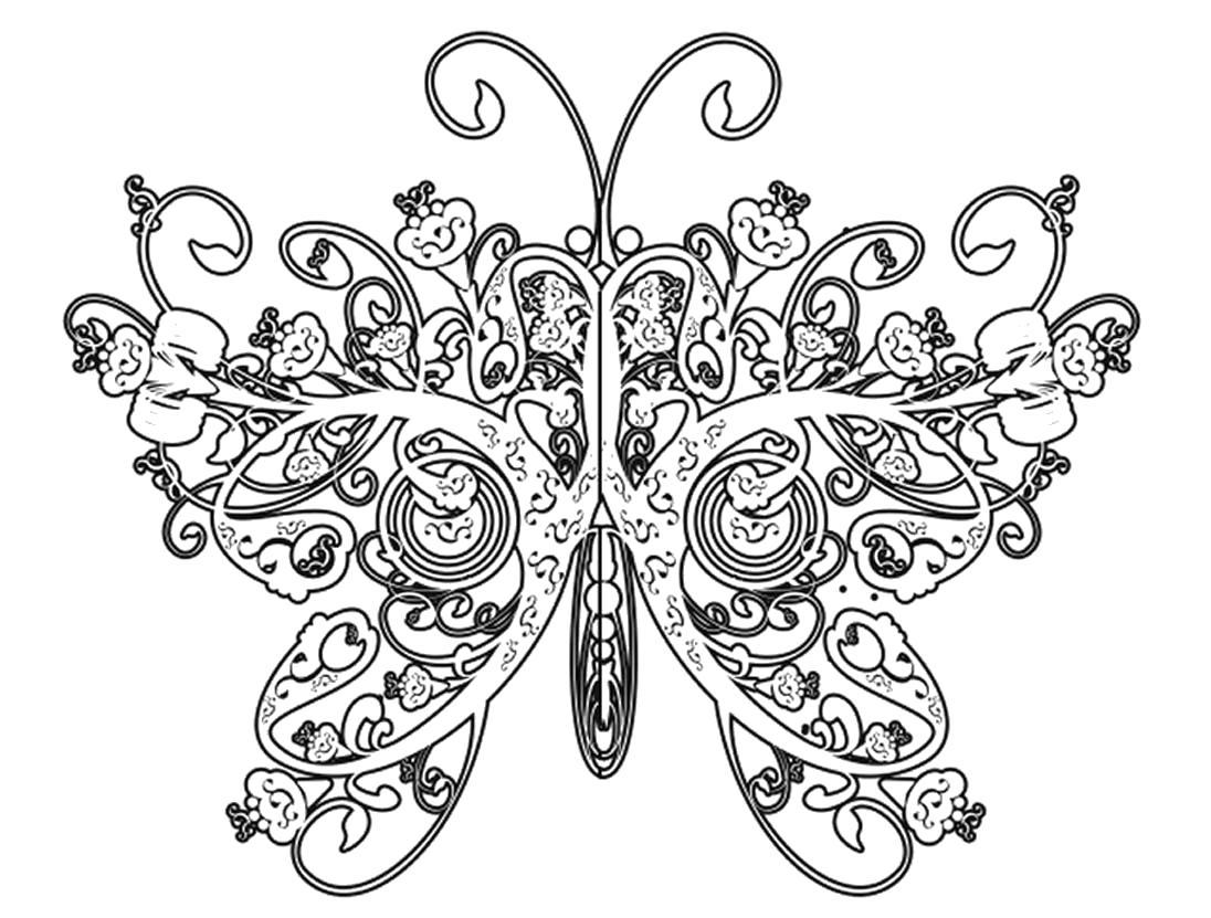 Раскраска Очень сложные и красивые . Скачать узоры, природа.  Распечатать антистресс
