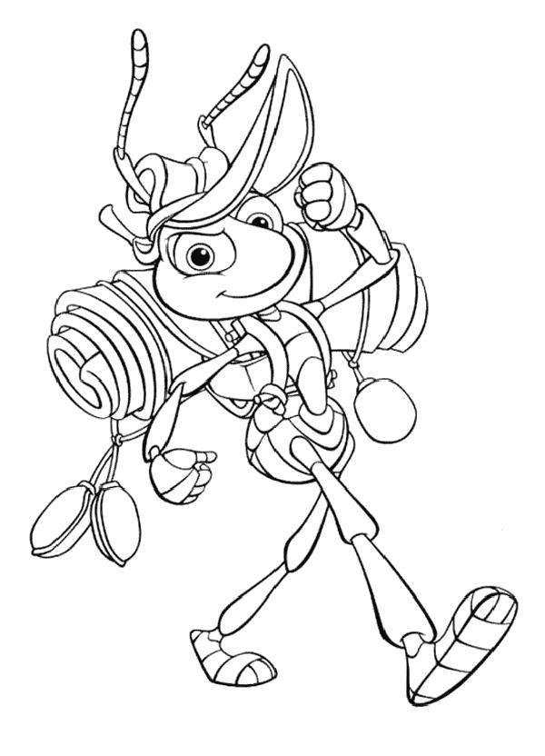Раскраска Сильный муровей. Скачать .  Распечатать