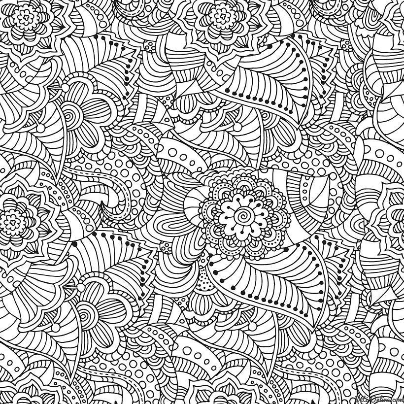 Раскраска  Антистресс -Классические дудлы. Скачать .  Распечатать