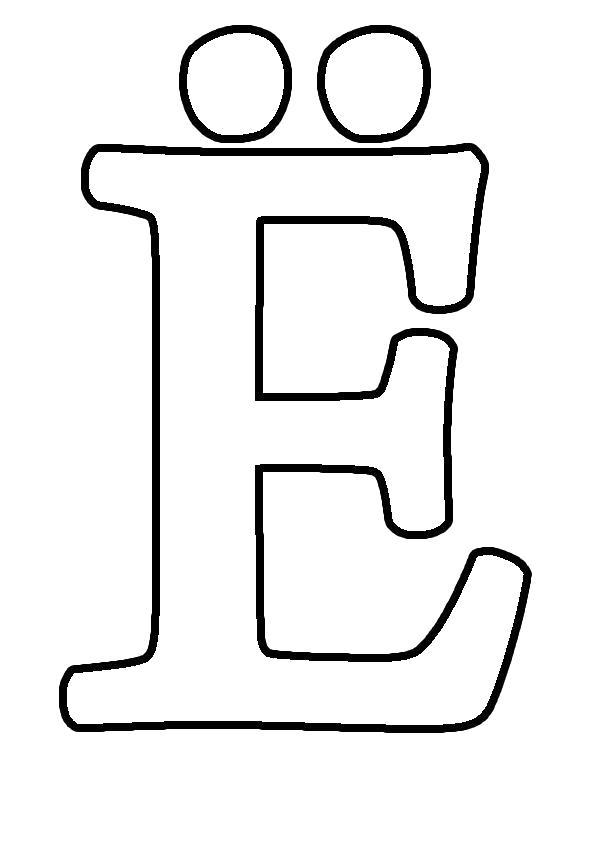 Раскраска буква ё трафарет для вырезания из бумаги. Скачать Трафарет.  Распечатать Трафарет
