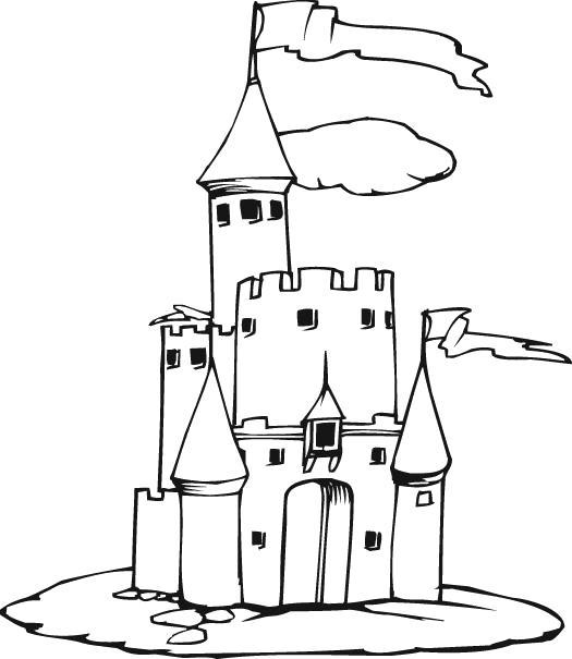 Раскраска  Замок Песочный. Скачать Замок.  Распечатать Замок