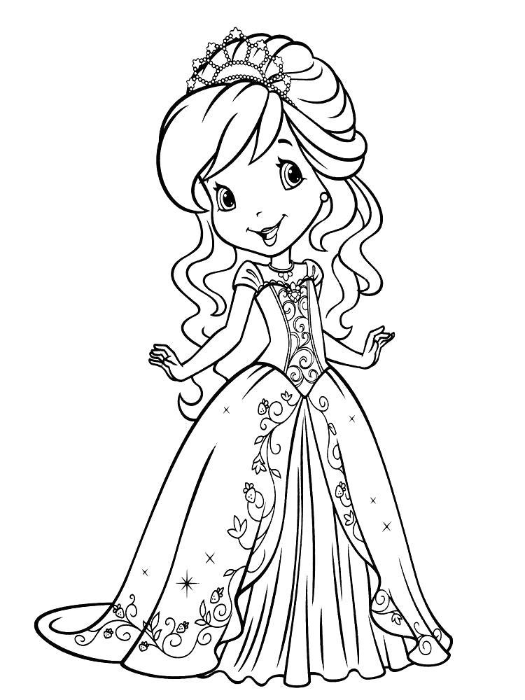 Раскраска  для девочек Шарлотта Земляничка. Скачать шарлотта земляничка.  Распечатать шарлотта земляничка