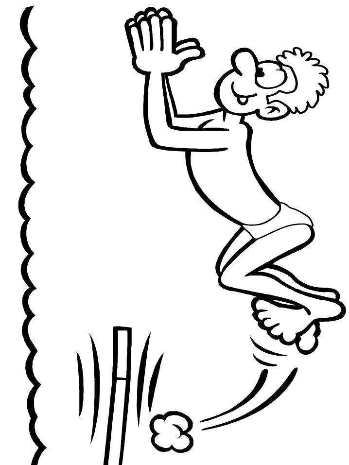 Раскраска Прыжок в воду. Скачать .  Распечатать