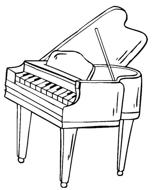 Раскраска Рояль. Скачать Пианино.  Распечатать Пианино