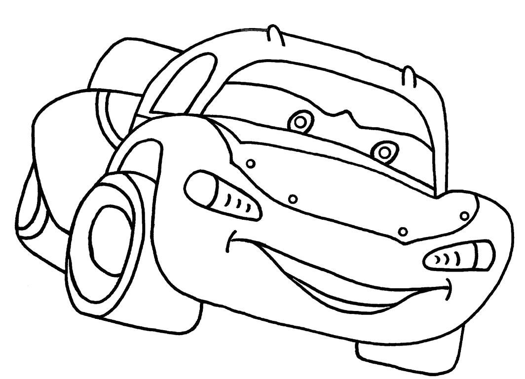 Раскраска  спортивные автомобили. Скачать Автомобиль.  Распечатать Автомобиль