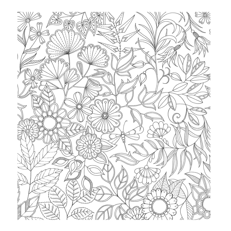 Раскраска Милые цветы. Скачать узоры, цветы, для взрослых, природа.  Распечатать антистресс
