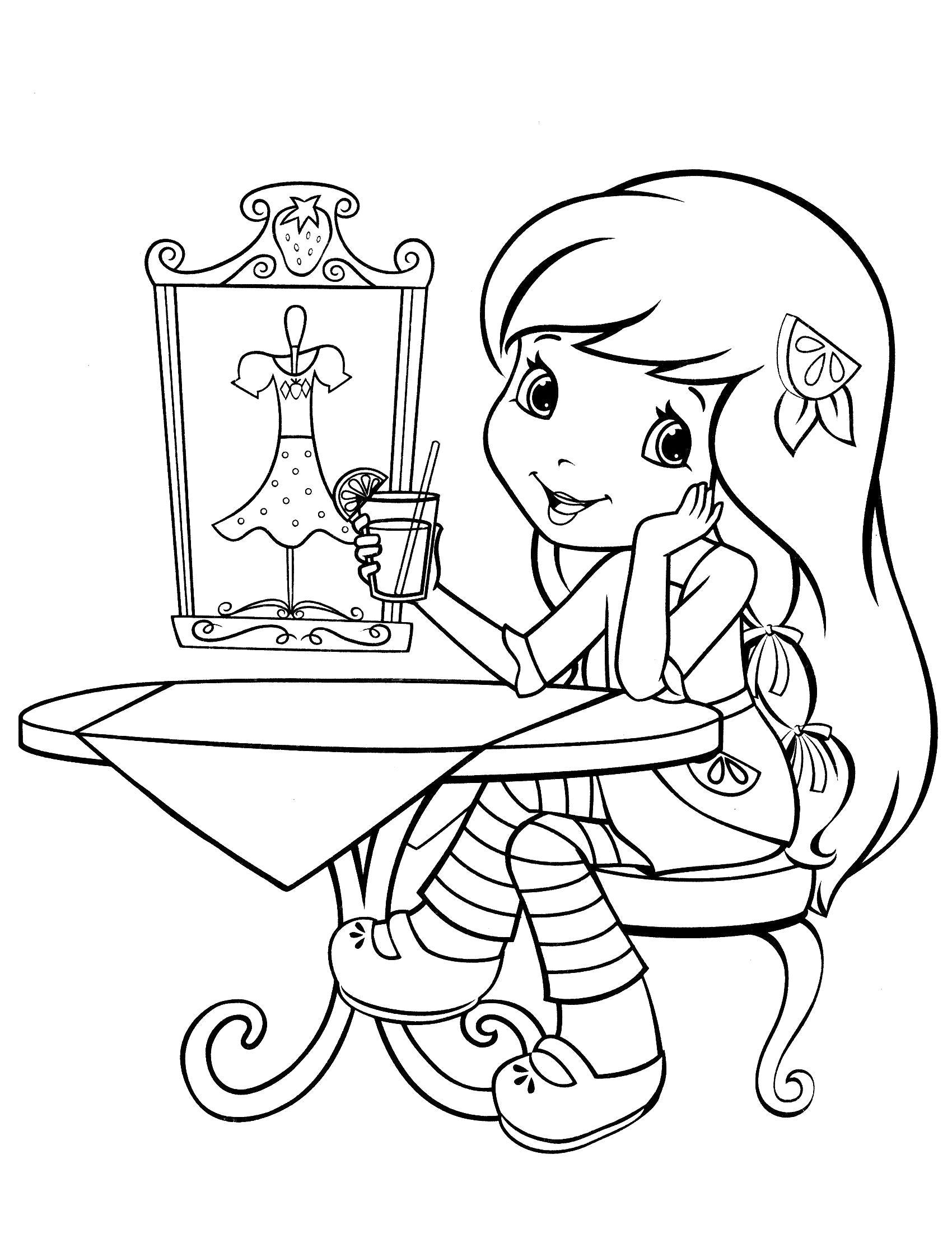 """Раскраска  """"шарлотта земляничка и ее друзья"""" . Скачать шарлотта земляничка.  Распечатать шарлотта земляничка"""