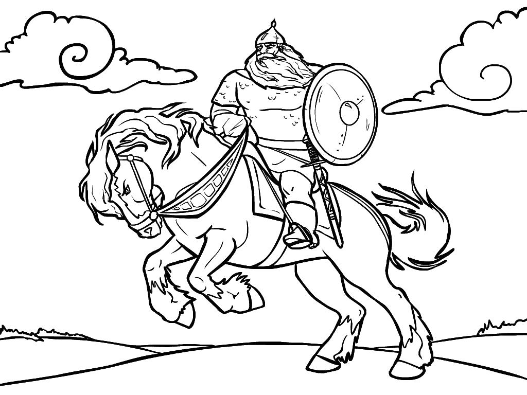 раскраски коне раскраска илья муромец на коне илья муромец