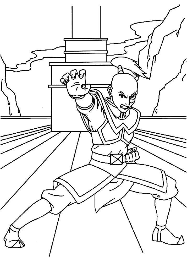 Раскраска Принц Зуко. Скачать .  Распечатать
