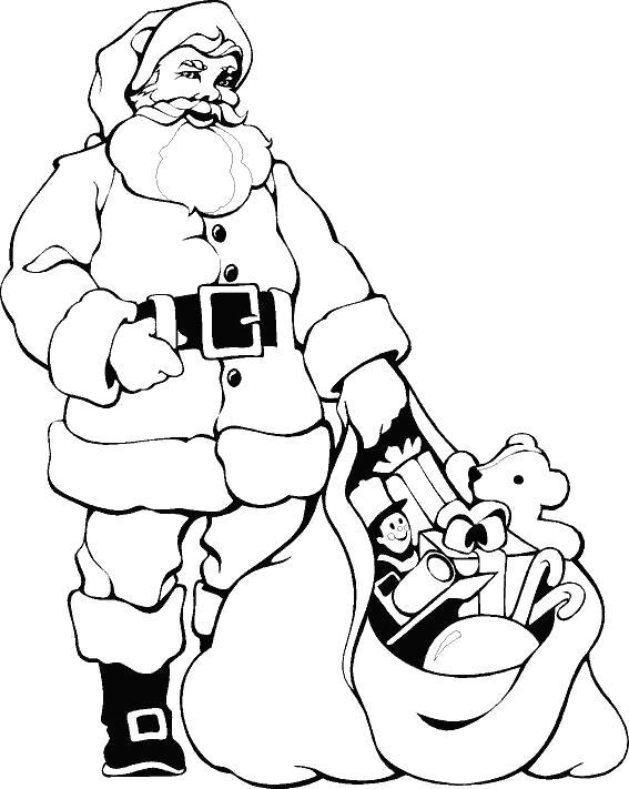 Название: Раскраска Санта Клаус или Дед Мороз?. Категория: развивающие. Теги: развивающие.
