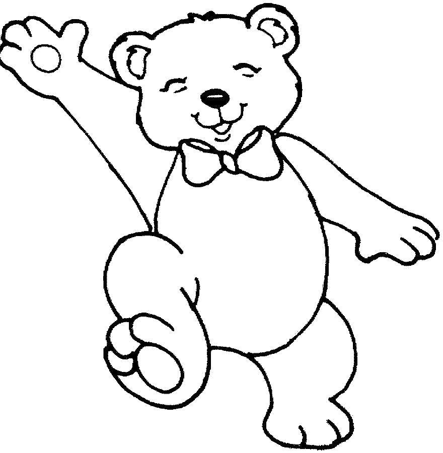 Раскраска  тедди. Скачать Тедди.  Распечатать Тедди