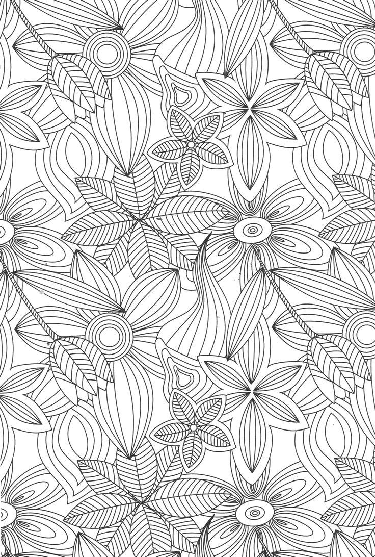 Раскраска Антистресс цветочки. Скачать цветы, узоры.  Распечатать антистресс