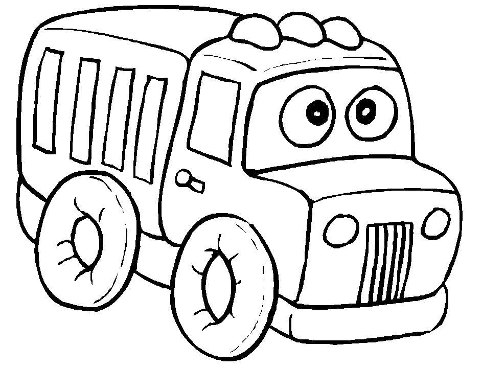 Раскраска  грузовые автомобили. Скачать .  Распечатать