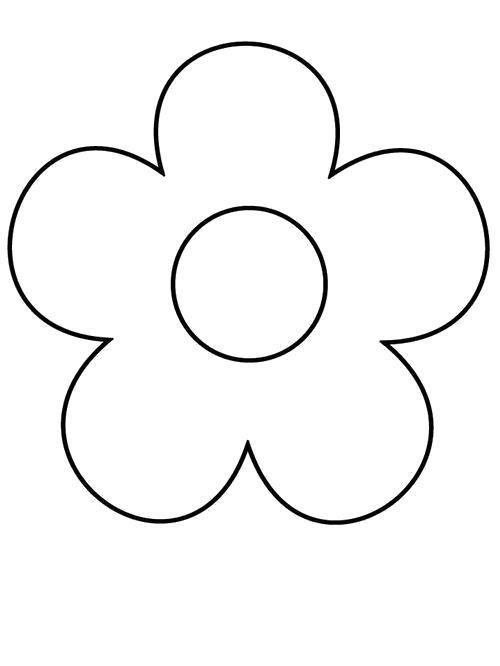 Раскраска  Цветок с большой серединой. Скачать Цветы.  Распечатать Цветы