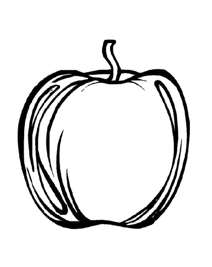 Раскраска  яблоко . Скачать яблоко.  Распечатать Фрукты
