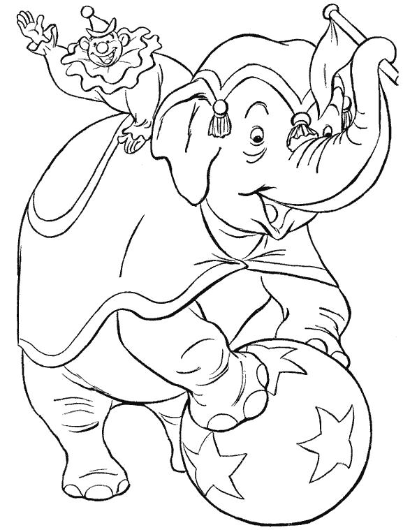 Раскраска Слоненок играется. Скачать слон.  Распечатать Дикие животные