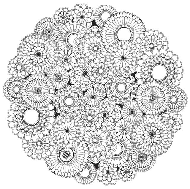 Раскраска Объект желания:  для взрослых . Скачать цветы, узоры, для взрослых.  Распечатать антистресс