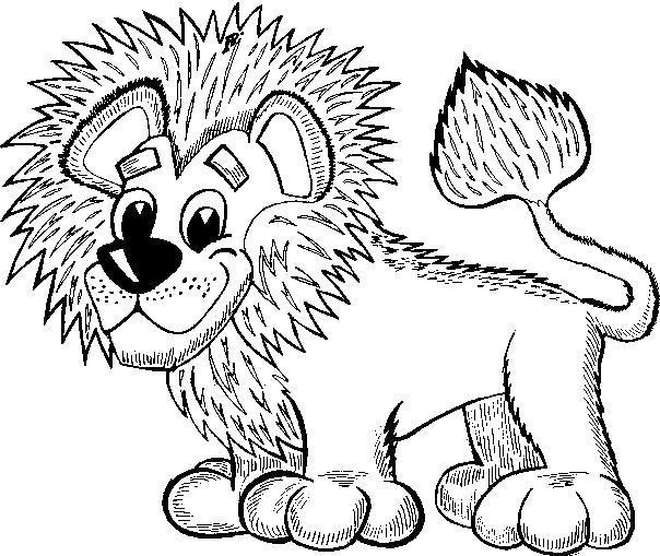 Раскраска Милый львёнок. Скачать .  Распечатать