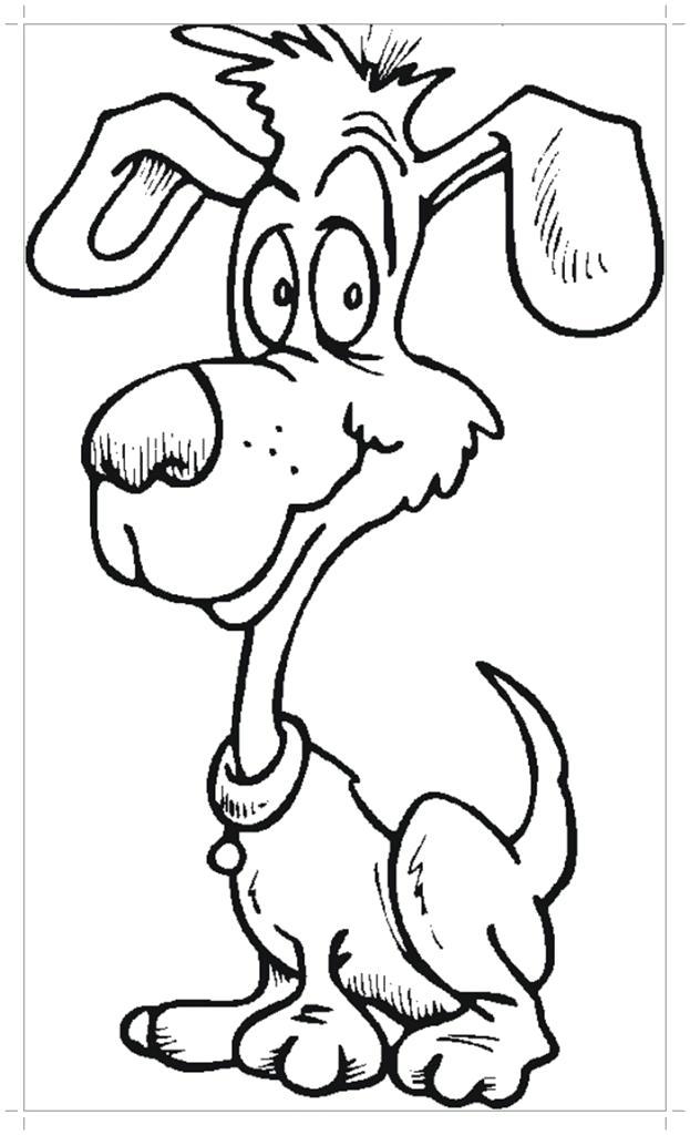 Раскраска Картинка щенка . Скачать .  Распечатать