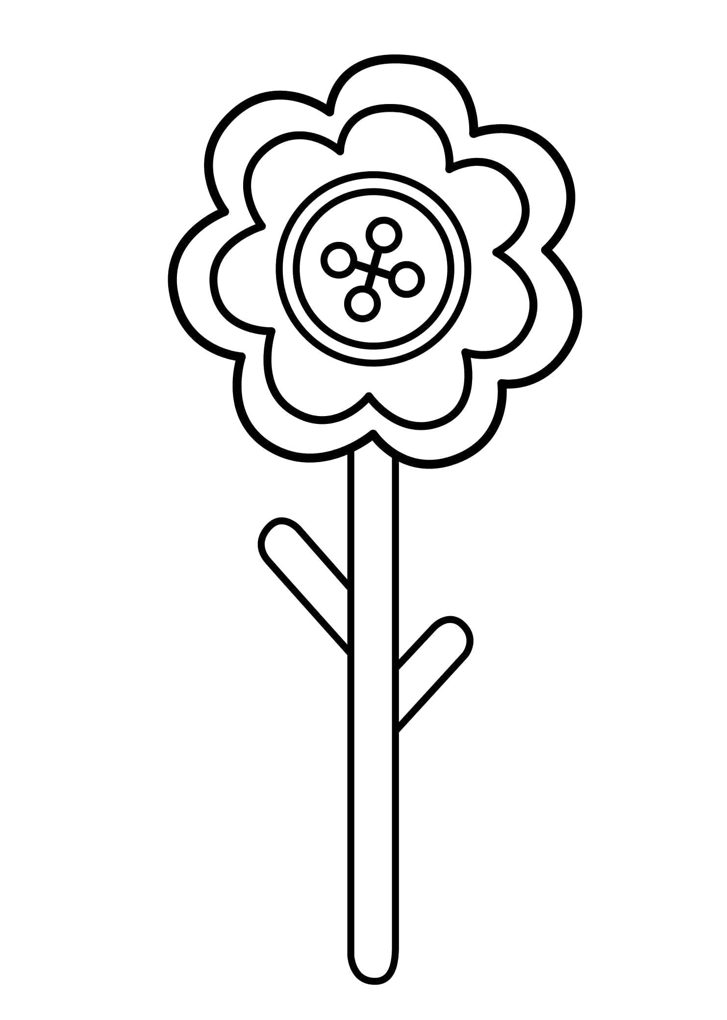 Раскраска Цветочек. Скачать цветы.  Распечатать цветы