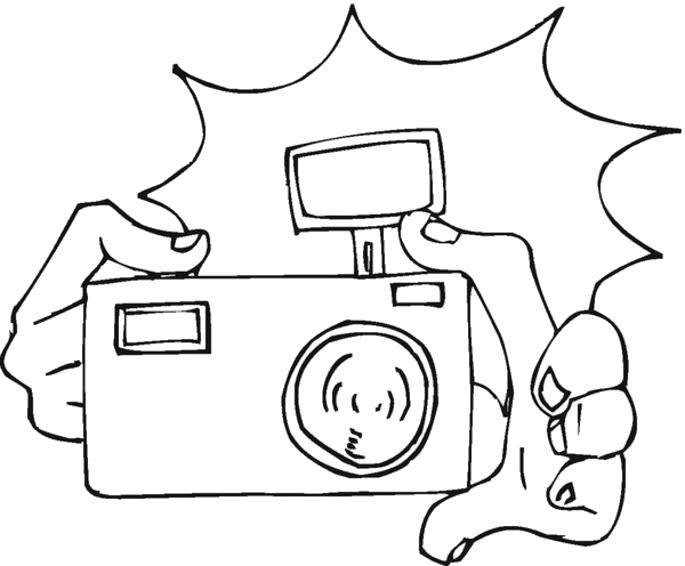 Раскраска Снимок с помощью фотоаппарата. Скачать .  Распечатать
