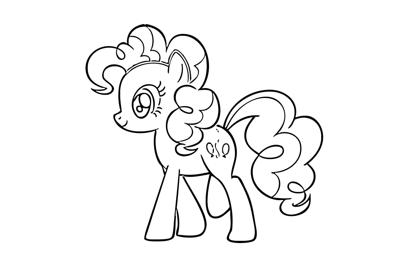 Раскраска пони с шариками. Скачать пони.  Распечатать пони