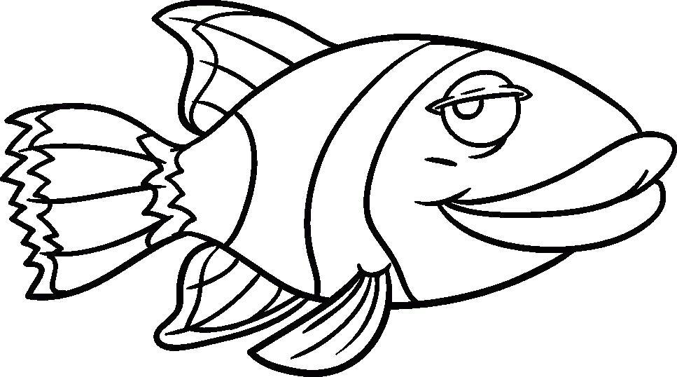 Раскраска Рыбка. Скачать животных.  Распечатать животных