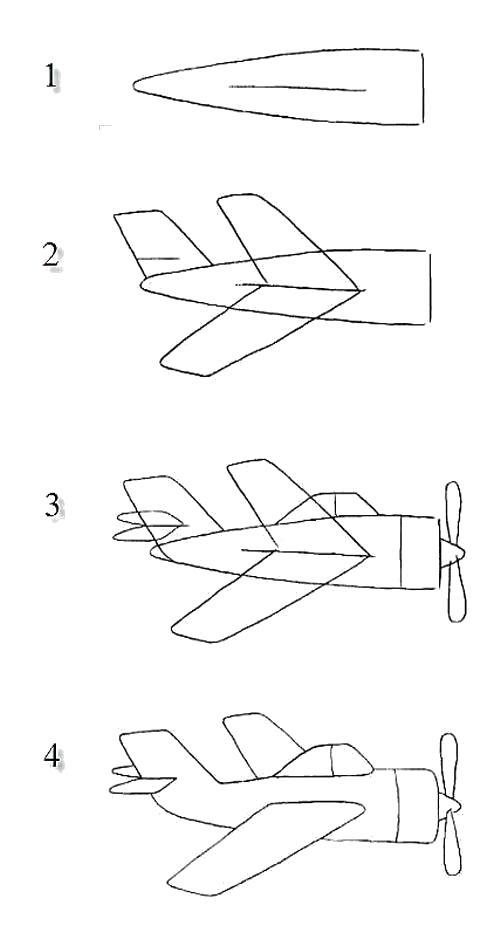 Раскраска  для мальчиков - самолеты. Скачать как нарисовать.  Распечатать Учимся рисовать